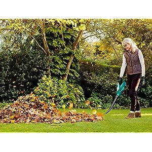Bosch; Jardin; Soplador; Powerforall; limpieza; orden; sopla; hojas; terraza; aire; batería; 18V;