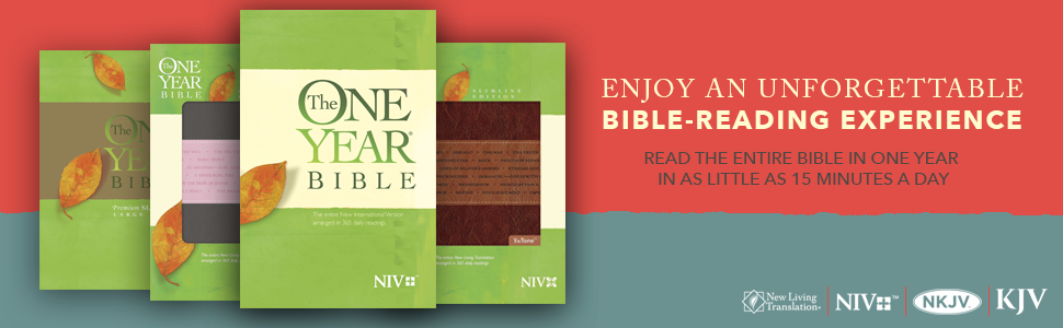 The One Year Bible Niv Softcover Tyndale 9781414359915 border=