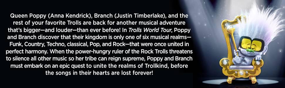 trolls, trolls world tour, trolls 2, trolls movie, twt, anna kendrick, justin timberlake, dreamworks