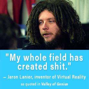 jaron lanier, virtual reality, valley of genius, wozniak