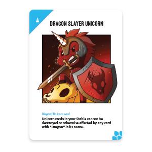 Dragon Slayer Unicorn Card: Unstable Unicorns Dragon Expansion Pack
