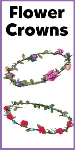 Flower Crowns, Headbands, girls craft, crafting, girly things, gifts for girls