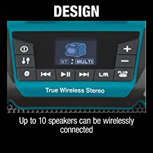 design up to ten speakers con be wirelessly connected