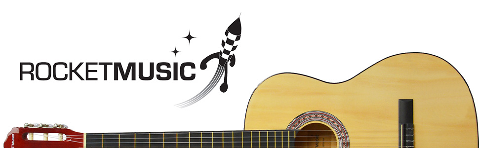 Rocket Music CG44N - Guitarra de Concierto, Natural, Full Sized ...