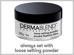 Loose setting powder, Dermablend