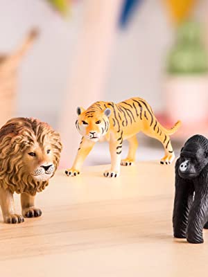 Plastic learning toy schleich animal planet papo safari wilderness collection wild zoo creature kids
