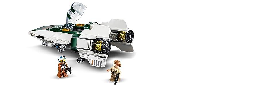 LEGO- Star Wars Episode IX A-Wing Starfighter della Resistenza Set di Costruzioni per Bambini +7 Anni, Multicolore, 75248