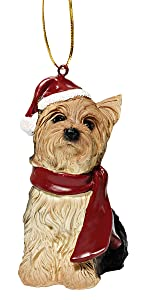 Christmas Ornaments - Xmas Yorkie Holiday Dog Ornaments