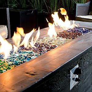 Amazon Com Bond Manufacturing 67984 Lavaglass Round Fire Pit Dispersion Glass 10 Lb Indigo Dream Garden Outdoor