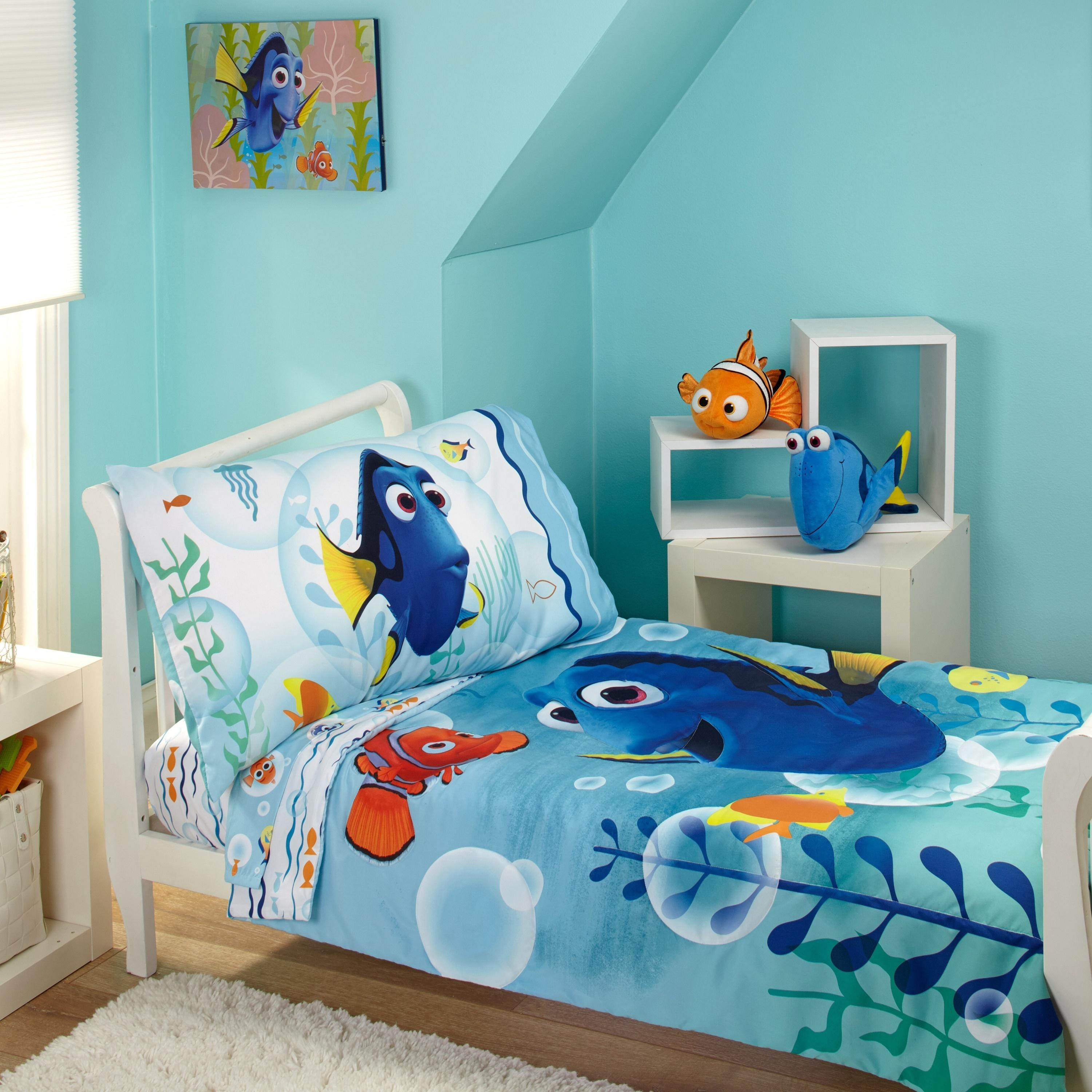 Disney Finding Dory Bubbles 4 Piece Toddler Bedding Set