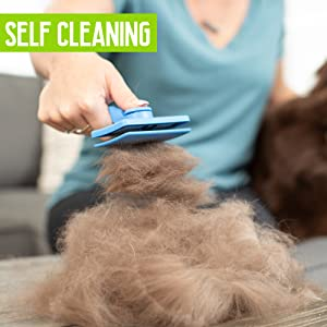 Pet Craft Supply Self Cleaning Calming Slicker Pet Grooming Brush for Dogs and Cats