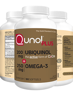 01ffec7e14d1 ... 200mg 250mg Supplements Qunol Softgels. Qunol Plus Ubiquinol + Omega-3  90 Count