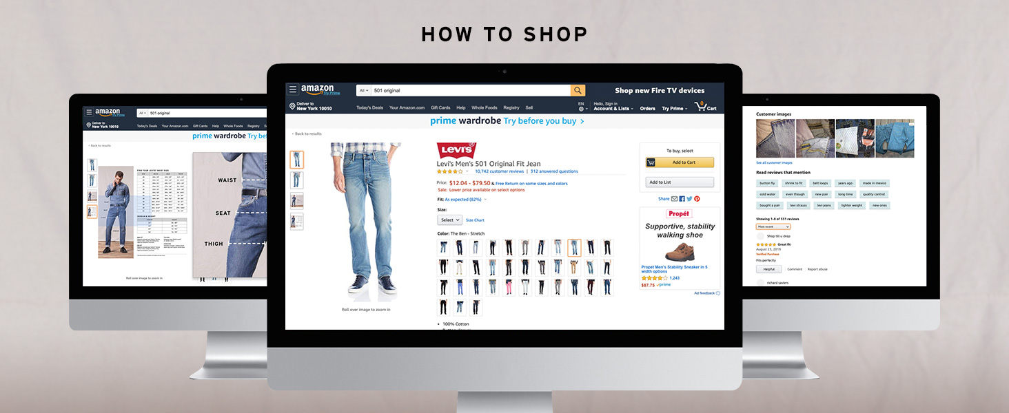 How to shop for your Levis jeans on Amazon