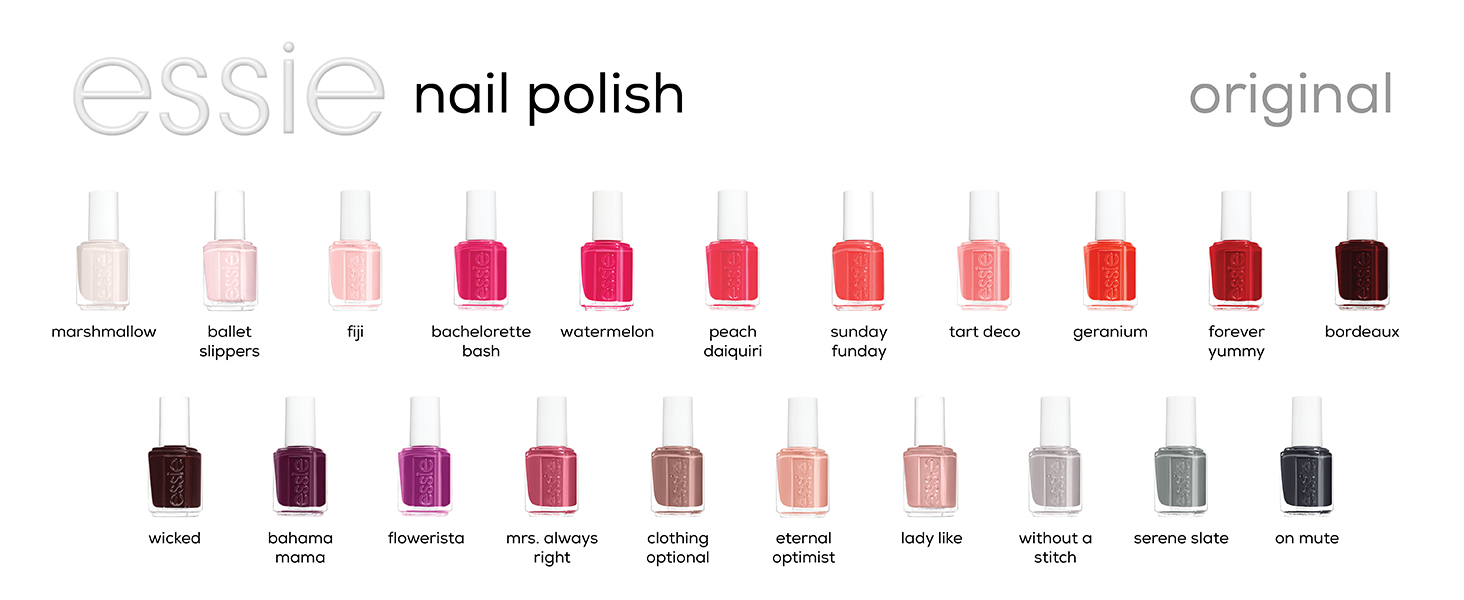essie nail polish, essie nail colors, salon nail polish, summer nail polish colors