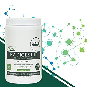 RV Digest-It uses naturally effective and safe microbes and enzymes to digest waste and reduce odors