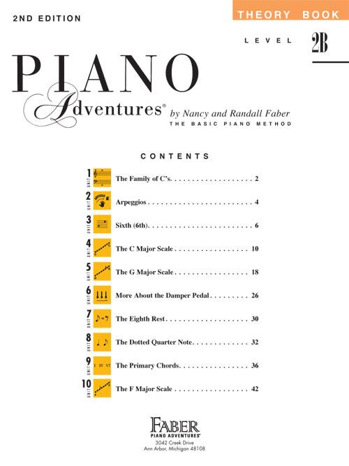 Level 2B - Theory Book: Piano Adventures: Nancy Faber