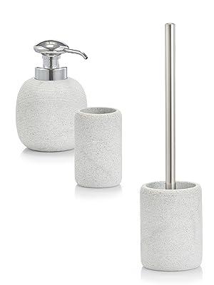 Zeller WC-Bürste /'Living/' Polyresin hellgrau