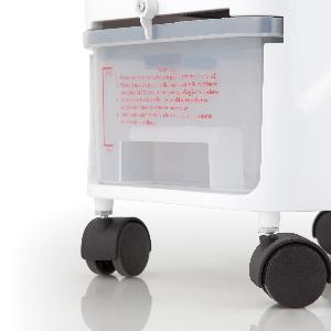 Orbegozo 1 Climatizador evaporativo 3 en 1, acumuladores de frío, depósito de 3.5 l, aletas direccionales, ruedas ...