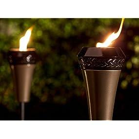 Island King Large Flame Torch; Island King Torch; Large Flame Torch;  Backyard Torches