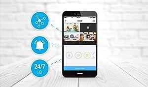 videocamere, sensori di allarme,registratori video,iOS,App Store,Android, Google play,NVR