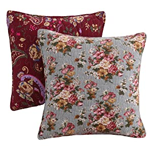bicycle pillow geo geometric floral spring bouquet