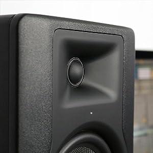 """M-Audio BX5 D3 Par- Monitor profesional de estudio bidireccional de 100 W con woofer de 5"""" para producción musical y mezcla, función Acoustic Space ..."""
