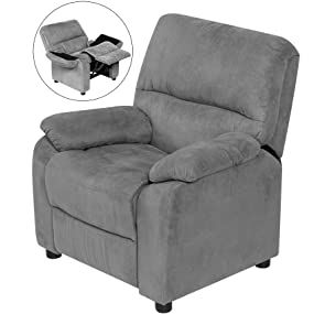 Etonnant Youth Recliner With Storage Arms And Dual USB