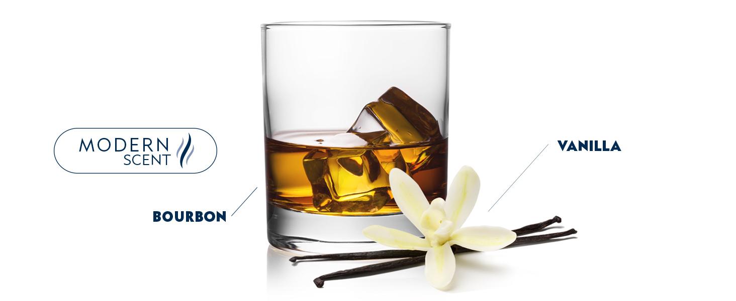 modern scent, vanilla, bourbon