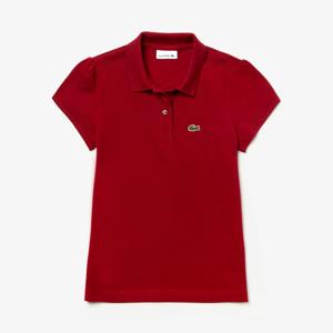 girl's polo shirt; Lacoste kids polo shirt; kids polo shirt