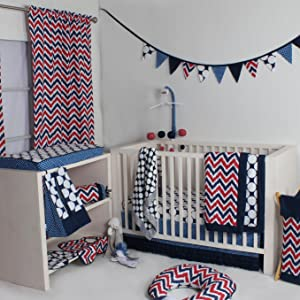 Bacati Ikat Navy/Red Collection