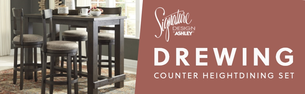 drewing counter height dining room signature design by ashley furniture
