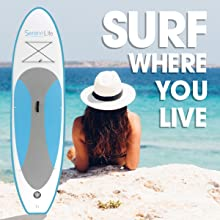 sereneLife inflatable stand up paddle board image 1