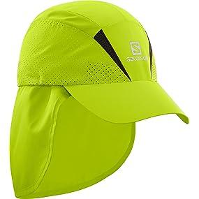 Salomon Gorra unisex con protector de nuca extraíble, XA+ CAP, L ...