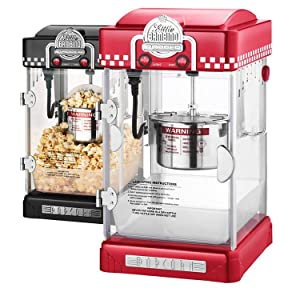 gnp little bambino 212 ounce retro style popcorn popper machine red or black - Popcorn Poppers