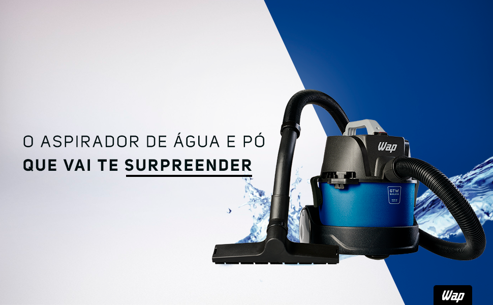 Aspirador compacto, Aspirador de pó e água, Aspirador Bagless, Aspirador VAP, Aspirador pequeno,WAP,