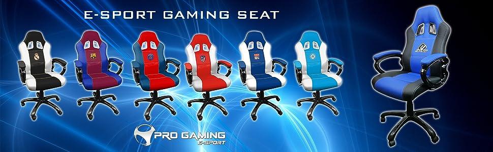 Avec Siege De Chaise Bureau Germain Baquet Gamer Fauteuil Pivotante Psg Paris Gaming Jeu Saint Assise Subsonic Et Ergonomique BoexWrdC