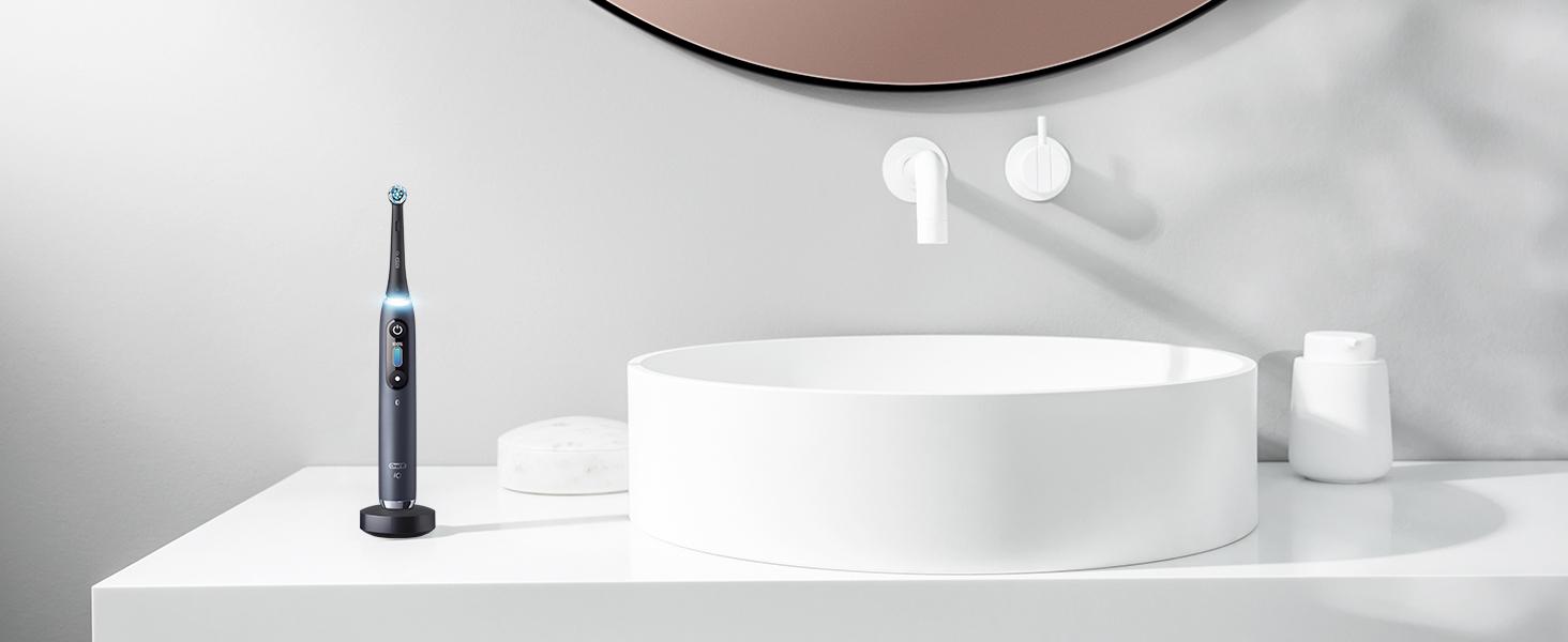 design integrato perfettamente sul lavandino