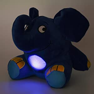 ANSMANN LED Nachtlicht Elefant Kuscheltier inkl Batterien Die Sendung mit der Maus Einschlafhilfe zum Kuscheln mit Musik Funktion Kuschelweiches