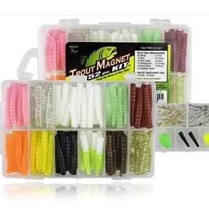 4 Packs Trout Magnet Trout Worms Bubblegum