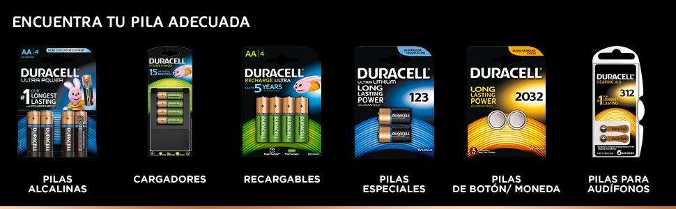 Duracell Ultra AA - Pilas Recargables, 2500 mAh, Paquete de 8