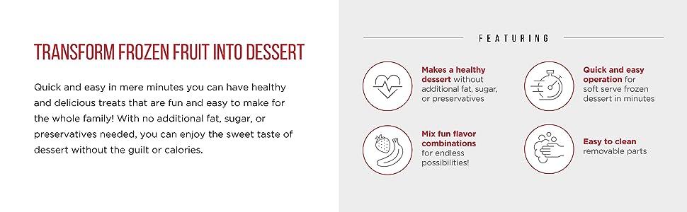 healthy dessert, black, frozurt, frozurt machine, sherbert, frozen fruit maker, frozen treat