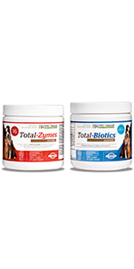Total Biotics and Total Zymes twin pack for dog and cat