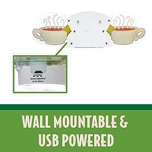 Wall Mountable & USB Powered