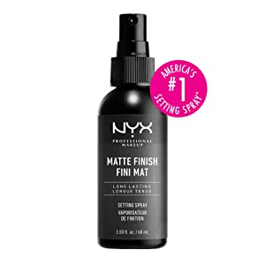 nyx professional makeup, matte setting spray