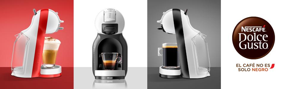 Pack DeLonghi Dolce Gusto Mini Me EDG305.BG - Cafetera de cápsulas, 15 bares de presión, color negro y gris + 3 packs de café Dolce Gusto Con Leche