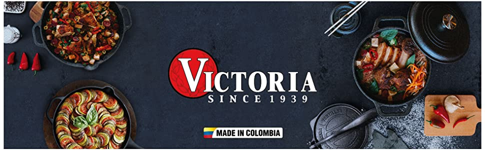 Victoria Cast Iron Cookware Made in Colombia