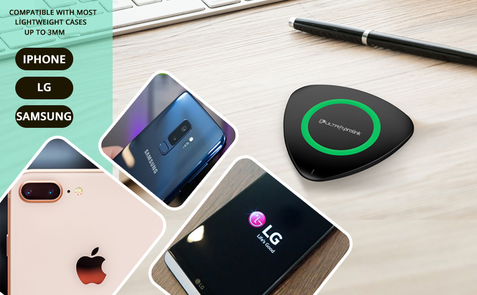 SPN-TP3A0 Wireless charging for ios iphone and android with light indicator charger pad 5 W watt