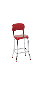Awesome Amazon Com Cosco 11120Red1E Retro Counter Chair Step Stool Uwap Interior Chair Design Uwaporg