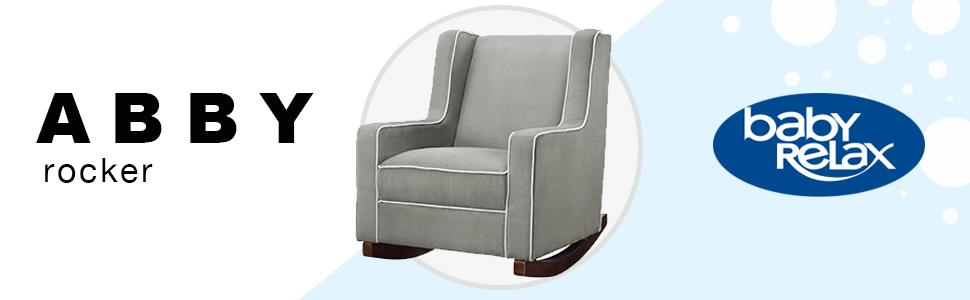 Sensational Baby Relax Abby Rocker Chair Nursery Living Room Furniture Gray Evergreenethics Interior Chair Design Evergreenethicsorg