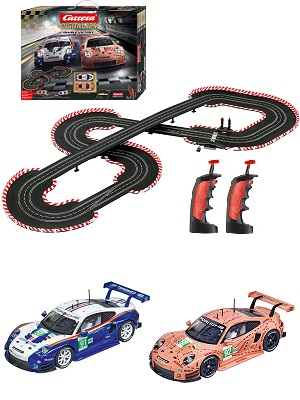 Amazon Com Carrera 20023628 Double Victory Digital 124 Slot Car Racing Track Set System 1 24 Scale Multi Toys Games